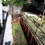 那覇市首里 N氏邸 野菜畑とゴーヤー棚