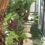 那覇市小禄 U氏邸 バリをイメージした新築庭園
